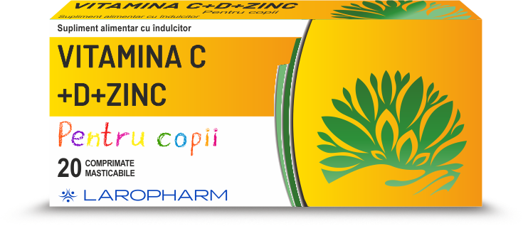 Vitamina C + D + Zinc pentru Copii