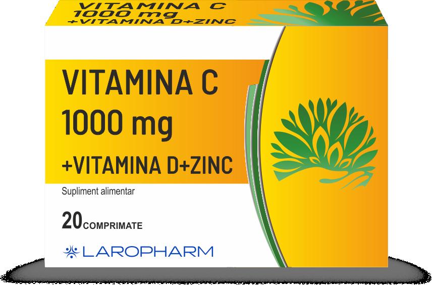Vitamina C 1000mg + Vitamina D + Zinc